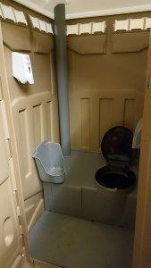 Portable Toliet insides - Huff Sanitation